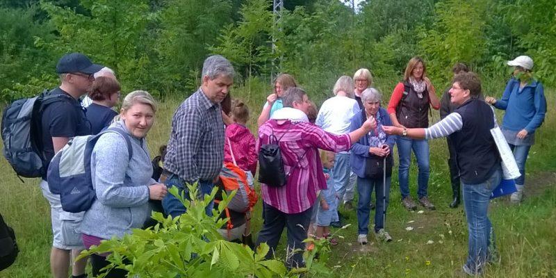 Foto: Kräuterführung mit Martina Schade auf der Halbinsel Kampenwerder. Fotoautor: Erhard Schade