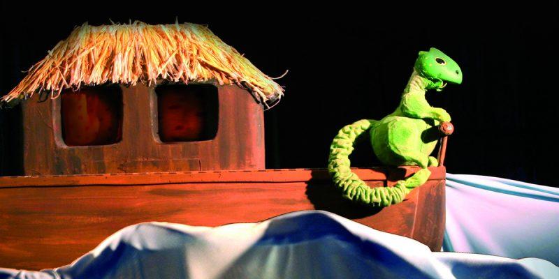 """Foto: Puppenspiel """"Der kleine Drache in der Arche"""". Fotoautor: Figurentheater Winter, Rieps/Cronskamp"""